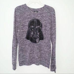 Star Wars Gray Sweater w/ Glitter Darth Vader Med
